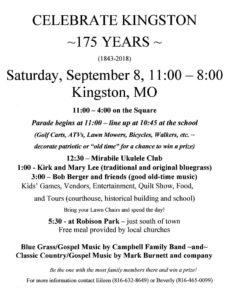 Kingston 175 Year Celebration @ Kingston   Missouri   United States