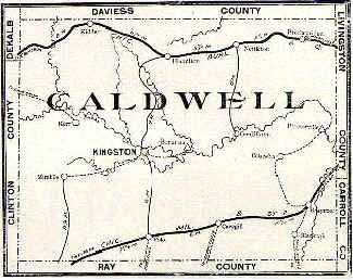 Far West Missouri Map.The History Of Caldwell County Caldwell County Missouri